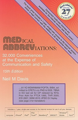 Medical Abbreviations By Davis, Neil M.